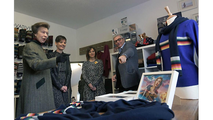 Princess Anne visits Corgi to unveil new Doctor Who range